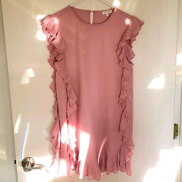 Vici Pink Ruffle Dress